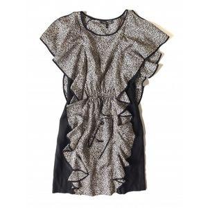 Cynthia Steffe Flutter Sleeve Silk Dress